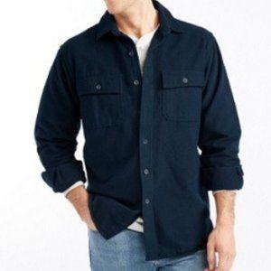 L.L Bean Men Blue Flannel Chamois Shirt Size M